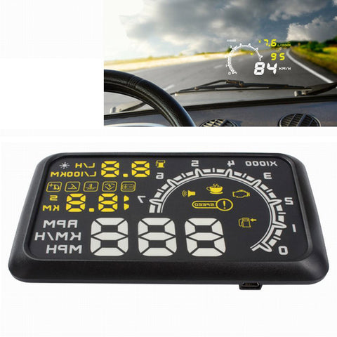 Buy Online  W02 5.5 inch Car OBDII HUD Fuel Consumption Warning System Vehicle-mounted Head Up Display Projector with LED Car Accessories - MEGA Discount Online Store Ghana