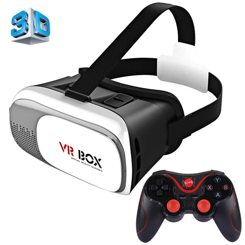 Buy Online  VR BOX 2.0 Universal Virtual Reality 3D Video Glasses with Bluetooth Gamepad for 3.5 to 6 inch Smartphones Lens - MEGA Discount Online Store Ghana