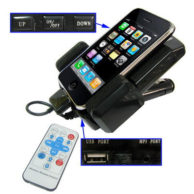 7 in 1 (FM Transmitter + Charger + Holder + Lcd Display + 3.5mm Audio Input + Wireless Remote Control) Car Kit for iPhone 4S & 4, iPhone 3G/3GS, iPhone, iPod iPhone Gadgets - MEGA Discount Online Store Ghana
