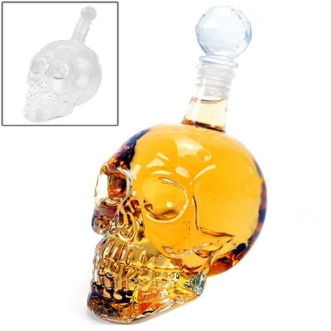 Buy Online  Crystal Glass Skull Bottle for Vodka & Whiskey & Beer Liqueur & Red Wine & Other Beverage, 350ML Smokers Inn - MEGA Discount Online Store Ghana