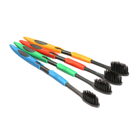 Buy Online  4 PCS Antibacterial Soft Superfine Family Size Toothbrush Nano Bamboo Charcoal Toothbrush, Random Color Delivery Dental Care - MEGA Discount Online Store Ghana