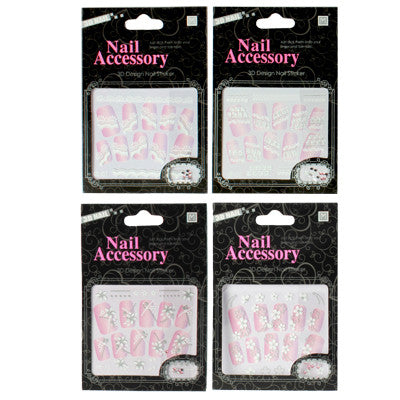 Buy Online  4 PCS 3D Design Nail Decals (Random Delivery) Makeup & Beauty - MEGA Discount Online Store Ghana