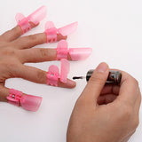 Buy Online  6 PCS Cute Art Polish Nail Finger Tips Varnish Protective Cover Clip Manicure Tool(Pink) Makeup & Beauty - MEGA Discount Online Store Ghana