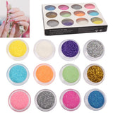 Buy Online  12 x Colorful Sparkly Colors Boxed Crushed Shell Powder Nail Art Tip Decoration Makeup & Beauty - MEGA Discount Online Store Ghana
