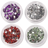 Buy Online  12pcs Colorful Sparkly Colors Boxed Crushed Shell Powder Nail Art Tip Decoration Makeup & Beauty - MEGA Discount Online Store Ghana