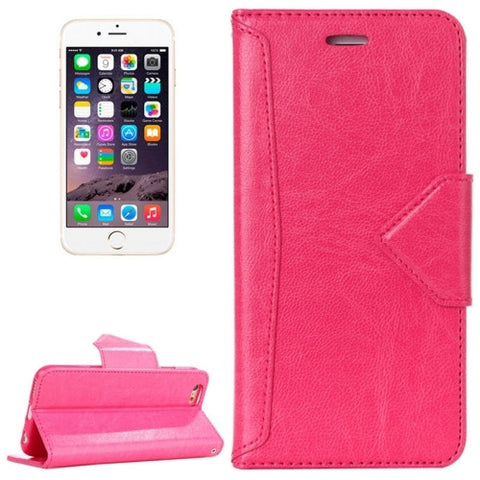 Buy Online  HAWEEL for iPhone 6 Magnetic PU Leather Case with Holder & Card Slots(Magenta) Apple Cases - MEGA Discount Online Store Ghana