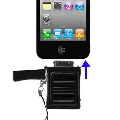Buy Online  Solar Energy Charger for iPhone/iPhone 3G/iPhone 3GS/iPhone 4 & 4S, Built-in 500mAh Battery (Black) Power Banks & Solar - MEGA Discount Online Store Ghana