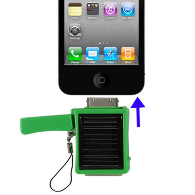 Buy Online  Solar Energy Charger for iPhone/iPhone 3G/iPhone 3GS/iPhone 4 & 4S, Built-in 500mAh Battery (Green) Power Banks & Solar - MEGA Discount Online Store Ghana