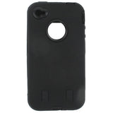 Buy Online  Hard Cover with Silicone Skin Dual Layer for iPhone 4 & 4S(Black) Apple Cases - MEGA Discount Online Store Ghana