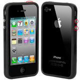 Buy Online  TPU + PC Material Bumper Frame Cover with Keys for iPhone 4 & 4S (Black) Apple Cases - MEGA Discount Online Store Ghana