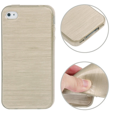 Buy Online  Brushed Texture TPU Cover for iPhone 4 & 4S (Golden) Apple Cases - MEGA Discount Online Store Ghana