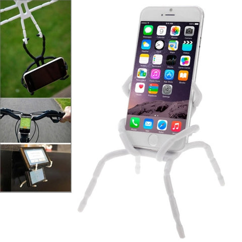 Buy Online  Flexible Universal Spider Car Grip Mobile Phone Holder(White) Holders - MEGA Discount Online Store Ghana