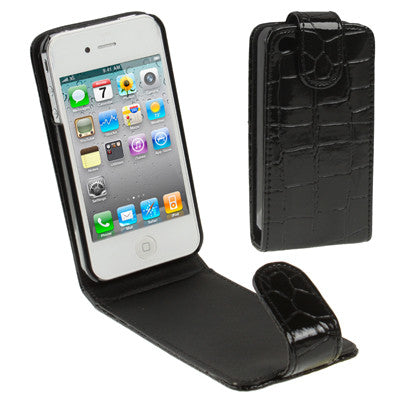 Buy Online  Crocodile Texture Leather Cover for iPhone 4 & 4S(Black) Apple Cases - MEGA Discount Online Store Ghana