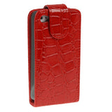 Buy Online  Crocodile Texture Leather Cover for iPhone 4 & 4S(Red) Apple Cases - MEGA Discount Online Store Ghana