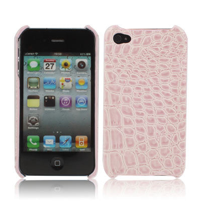 Buy Online  Crocodile Skin Style Plastic Cover for iPhone 4 & 4S / iPhone 4 (CDMA), Pink Apple Cases - MEGA Discount Online Store Ghana