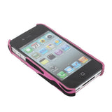 Buy Online  Zebra Texture Style Plastic Cover for iPhone 4 & 4S / iPhone 4 (CDMA), Magenta Apple Cases - MEGA Discount Online Store Ghana