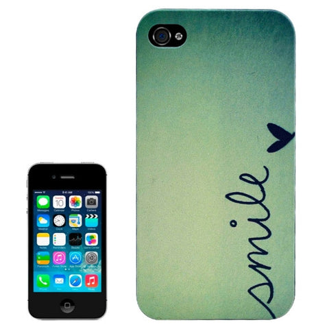 Buy Online  Black Frame SMILE Pattern Frosted PC Protective Cover for iPhone 4 & 4S Apple Cases - MEGA Discount Online Store Ghana