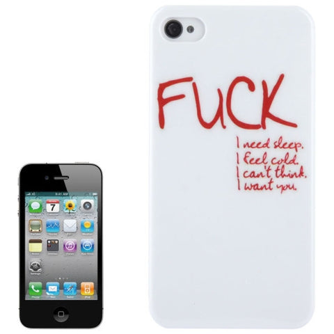 Buy Online  Cool Fuck Pattern Finger Plastic Protective Cover for iPhone 4 & 4S Apple Cases - MEGA Discount Online Store Ghana