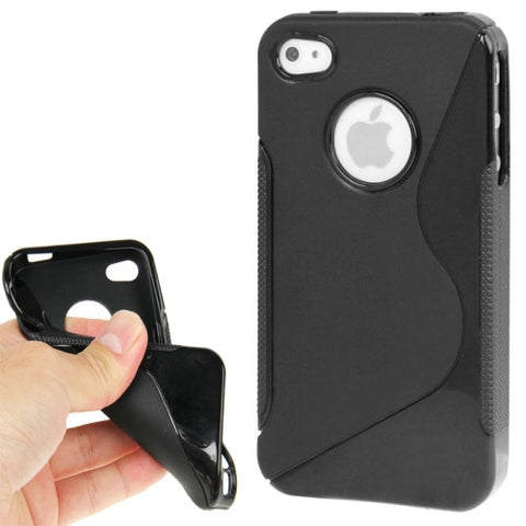 Buy Online  Non-slip Texture Series TPU Cover for iPhone 4 & 4S (Black) Apple Cases - MEGA Discount Online Store Ghana