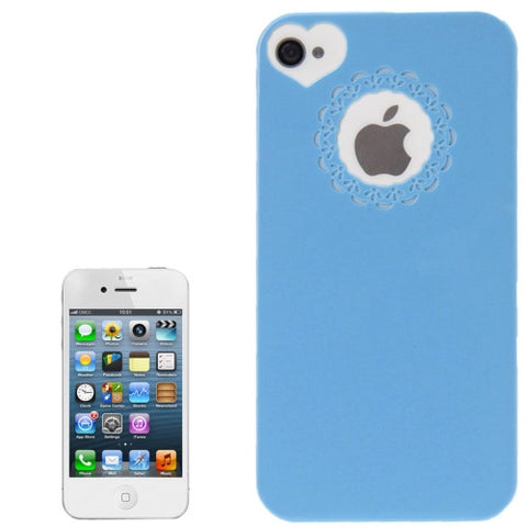 Buy Online  Engraving Flower Soft Smooth Plastic Protective Cover for iPhone 4 & 4S (Blue) Apple Cases - MEGA Discount Online Store Ghana