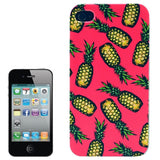 Buy Online  Pineapple Pattern Transparent Frame Colored Drawing Plastic Cover for iPhone 4 Apple Cases - MEGA Discount Online Store Ghana