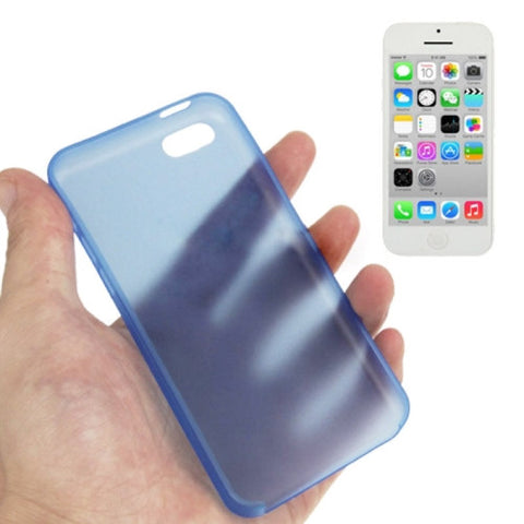 Buy Online  0.3mm Ultra Thin Polycarbonate Materials PC Protection Cover for iPhone 5 C(Blue) Apple Cases - MEGA Discount Online Store Ghana