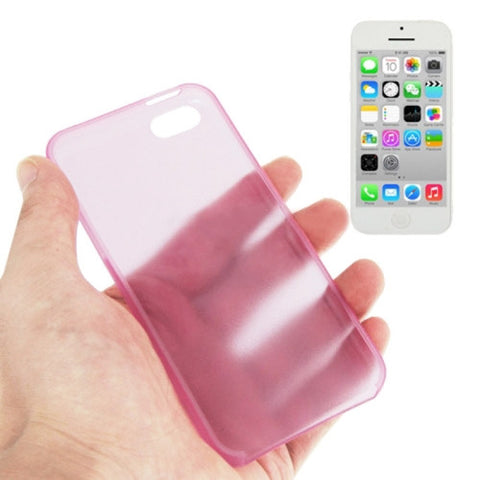 03mm Ultra Thin Polycarbonate Materials PC Protection Cover For IPhone 5 C Pink