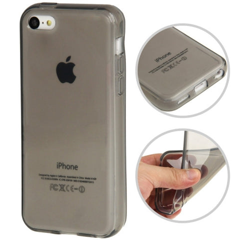 Buy Online  Smooth Surface Transparent TPU Protective Cover for iPhone 5 C(Grey) Apple Cases - MEGA Discount Online Store Ghana