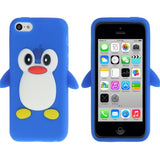 Buy Online  3D Penguin Shaped Silicone Protective Cover for iPhone 5 C (Blue) Apple Cases - MEGA Discount Online Store Ghana