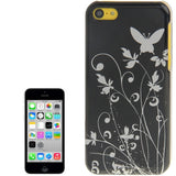 Buy Online  Butterfly Pattern Smooth Surface Plastic Cover for iPhone 5 C (Black) Apple Cases - MEGA Discount Online Store Ghana