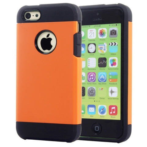Buy Online  Slim Armor TPU + Plastic Combination Cover for iPhone 5 C(Orange) Apple Cases - MEGA Discount Online Store Ghana