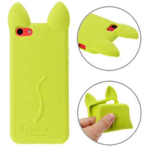 Buy Online  3D Shape KOKO Cat Style Silicone Cover for iPhone 5 C (Green) Apple Cases - MEGA Discount Online Store Ghana