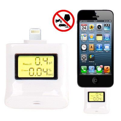 Buy Online  Alcohol Tester with 3-color Backlight for iPhone 5/ iPad 4 / iPad mini 1 / 2 / 3 / iPod touch 5 (White) iPhone Gadgets - MEGA Discount Online Store Ghana