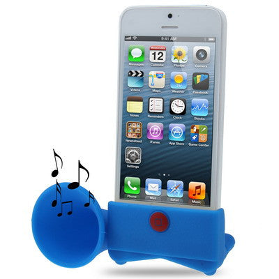 Buy Online  15dB Portable Amplifier, Silicone Horn Stand Speaker for iPhone 5 & 5S (Blue) Speakers - MEGA Discount Online Store Ghana
