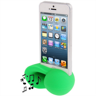 Conch Shape Silicone Stand Speaker Amplifier for iPhone 5 (Green) Speakers - MEGA Discount Online Store Ghana