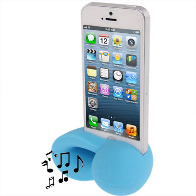 Conch Shape Silicone Stand Speaker Amplifier for iPhone 5 (Baby Blue) Speakers - MEGA Discount Online Store Ghana
