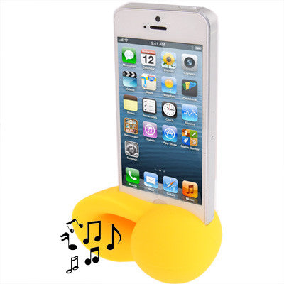 Conch Shape Silicone Stand Speaker Amplifier for iPhone 5 (Yellow) Speakers - MEGA Discount Online Store Ghana