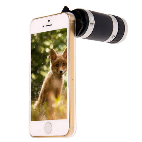 Buy Online  8X Zoom Lens Mobile Phone Telescope + Crystal Case for iPhone 5 & 5S(Black) Lens - MEGA Discount Online Store Ghana