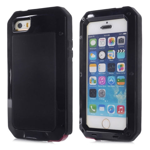 Buy Online  Waterproof Dustproof Shockproof Metal Armour Protective Case for iPhone 5S(Black) Apple Cases - MEGA Discount Online Store Ghana