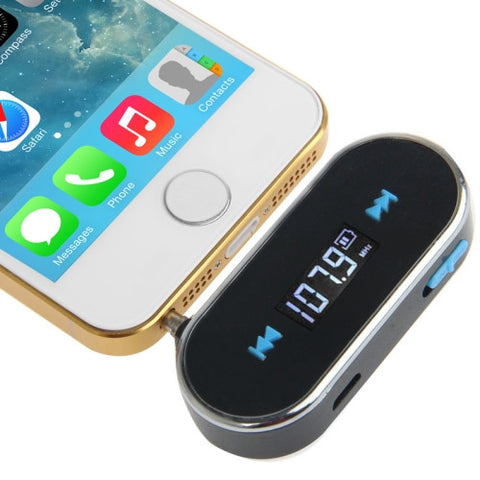 Buy Online  3.5mm Jack FM Transmitter for iPhone 5 & 5C & 5S / iPhone 4 & 4S / Samsung / HTC / Nokia / MP3 Player / Other Audio Devices with 3.5mm Jack(Black) Speakers - MEGA Discount Online Store Ghana