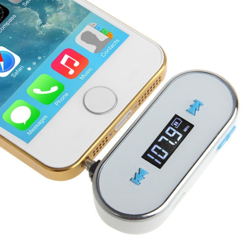 Buy Online  3.5mm Jack FM Transmitter for iPhone 5 & 5C & 5S / iPhone 4 & 4S / Samsung / HTC / Nokia / MP3 Player / Other Audio Devices with 3.5mm Jack(White) Speakers - MEGA Discount Online Store Ghana