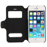 Buy Online  Crazy Horse Texture Leather Cover with Call Display ID & Holder for iPhone 5 & 5S (Black) Apple Cases - MEGA Discount Online Store Ghana
