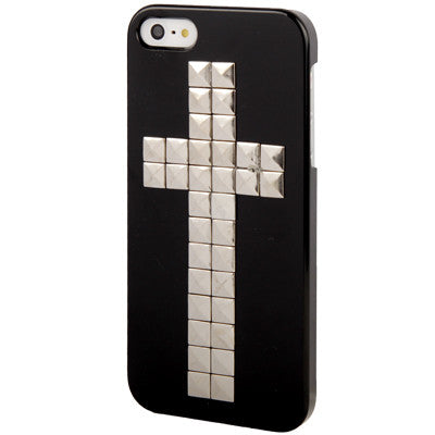 Buy Online  Black and Silver Cross Rivet Plastic Protective Cover for iPhone 5 Apple Cases - MEGA Discount Online Store Ghana