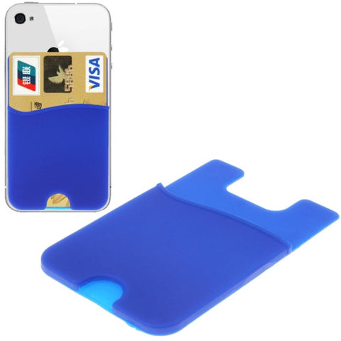 Buy Online  Smart Wallet Silicone Card Holder for iPhone 6 & 6 Plus / iPhone 5 & 5S / iPhone 4 & 4S (Blue) Holders - MEGA Discount Online Store Ghana
