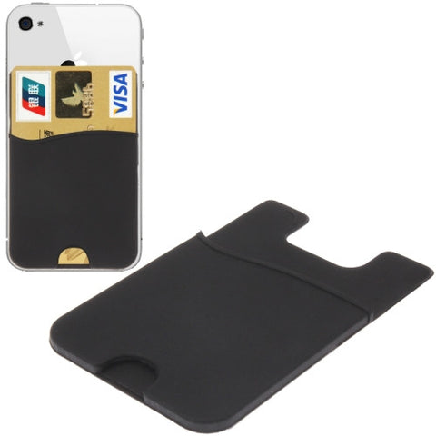 Buy Online  Smart Wallet Silicone Card Holder for iPhone 6 & 6 Plus / iPhone 5 & 5S / iPhone 4 & 4S (Black) Holders - MEGA Discount Online Store Ghana