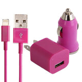 Buy Online  3 in 1 (5V 1A US Plug Travel Charger Adapter + Car Charger + 22cm 8-pin Sync Charge Cable) for iPhone 5 / iPod touch 5 / 6(Pink) Chargers & Adapters - MEGA Discount Online Store Ghana