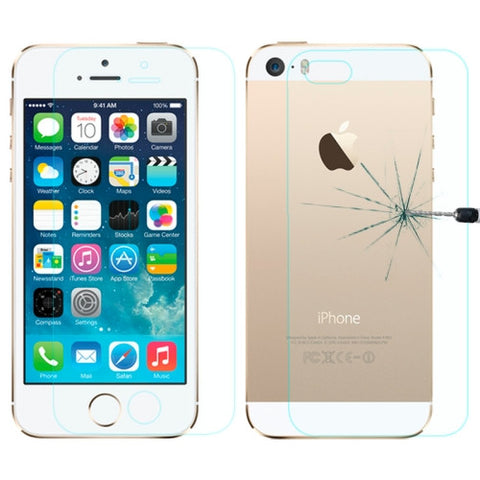 Buy Online  LOPURS 0.3mm Explosion-proof Front and Back Screen Protector Tempered Glass Film for iPhone 5 & 5S Screen Protectors - MEGA Discount Online Store Ghana