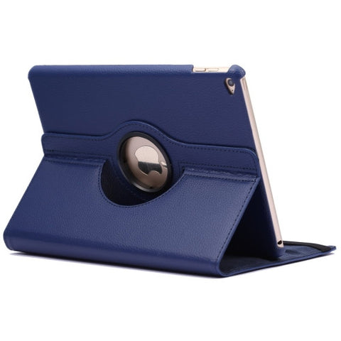Buy Online  360 Degree Rotation Litchi Texture Flip Leather Cover with 2 Gears Holder for iPad Air 2(Dark Blue) Apple Cases - MEGA Discount Online Store Ghana