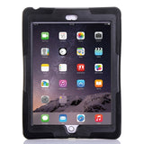 Buy Online  Screen Protector + Shockproof Silicone + Plastic Shell Combination Cover with Holder for iPad Air 2 / iPad 6(Black) Apple Cases - MEGA Discount Online Store Ghana