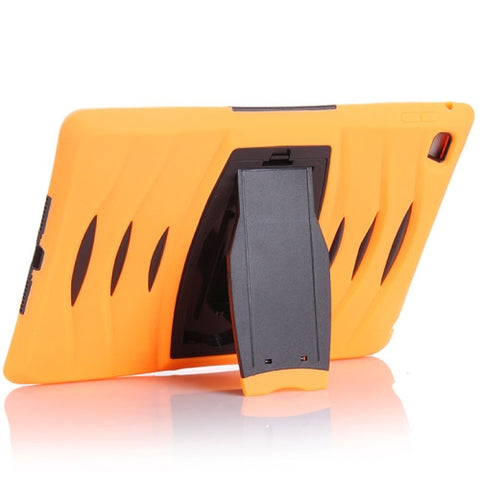 Buy Online  Screen Protector + Shockproof Silicone + Plastic Shell Combination Cover with Holder for iPad Air 2 / iPad 6(Orange) Apple Cases - MEGA Discount Online Store Ghana